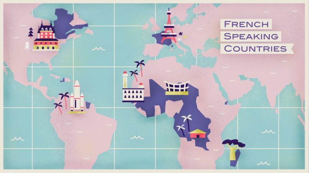 Język francuski na mapie świata